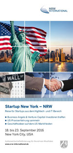 Start-up Reise New York